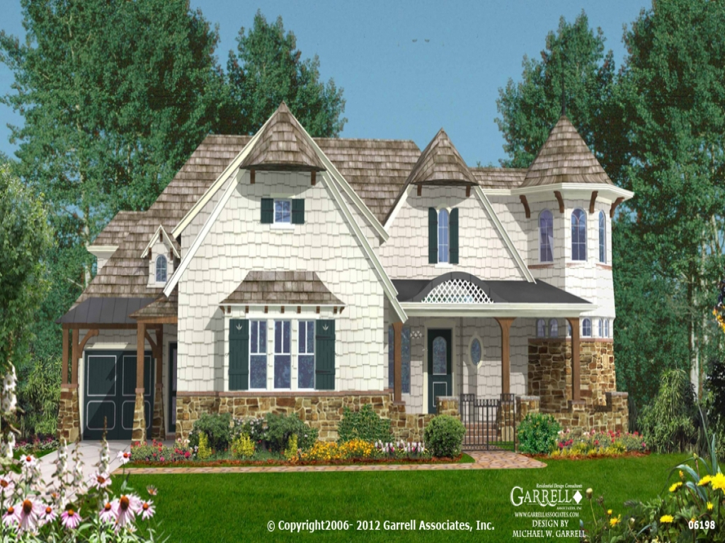 Island cottage house plan 06198 front elevation coastal for Island style home plans