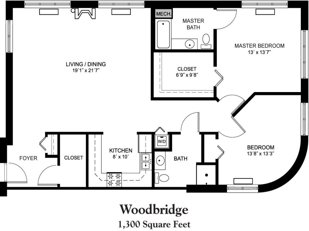 House plans 1800 square foot 1300 square foot house floor for 1800 50 floor