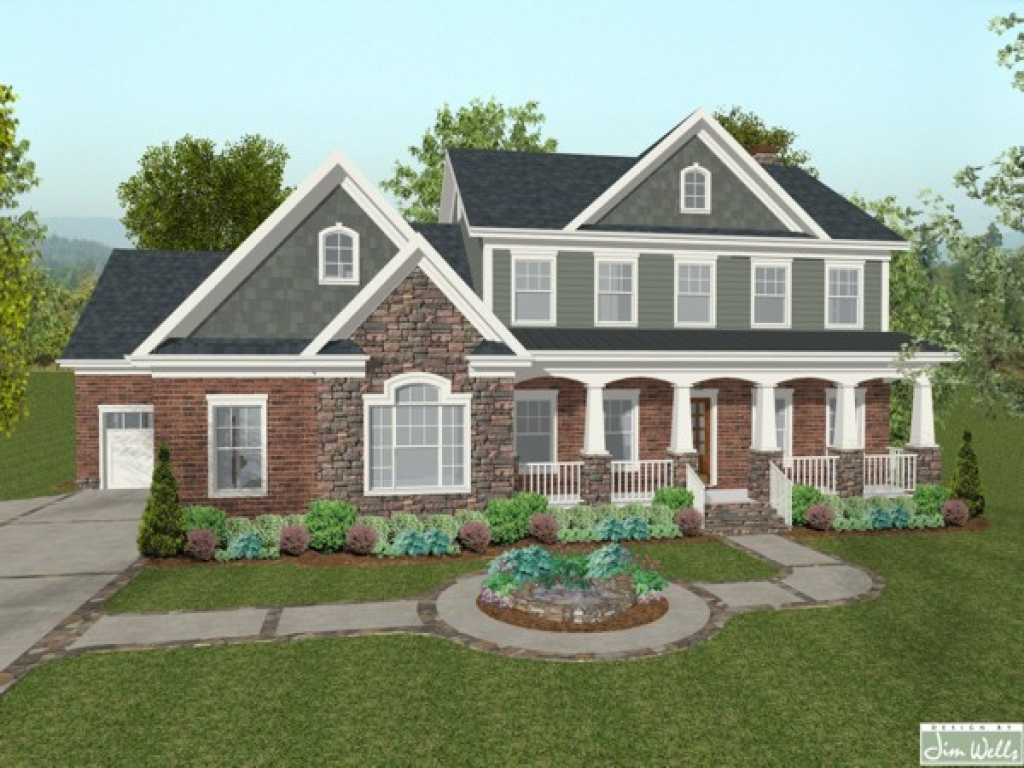 Houses With Brick And Stone Siding Blue Brick House Stone