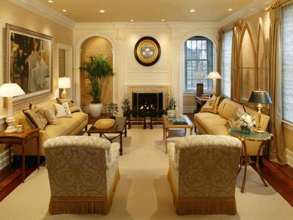 Colonial Homes Living Rooms Traditional Living Room