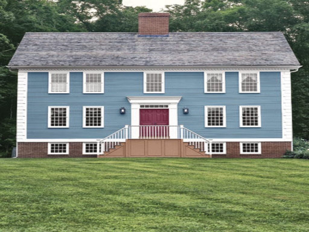 Colonial home exterior color schemes colonial home for Colonial home colors