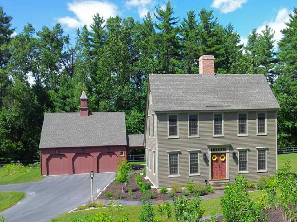 Colonial Saltbox Home Plans New England Colonial House