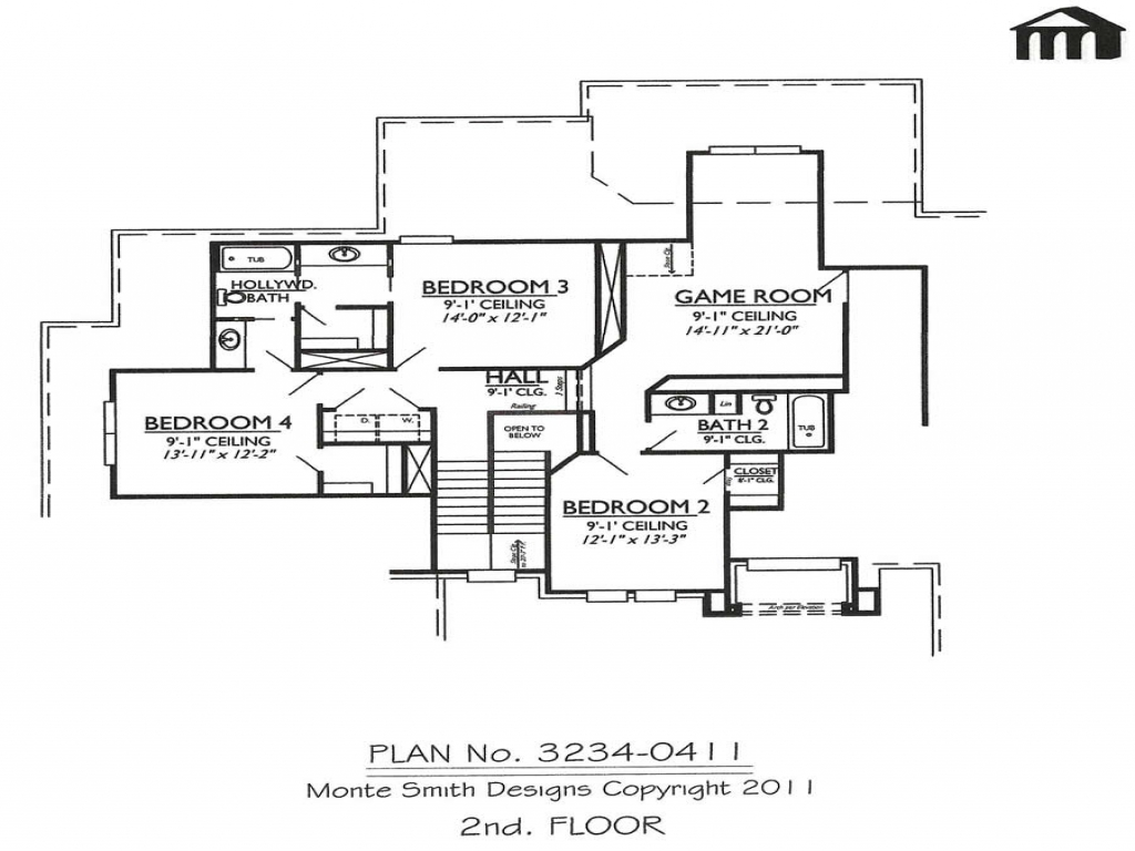 House floor plan 2 story 4 bedroom garage modern house for 4 bedroom two story house plans