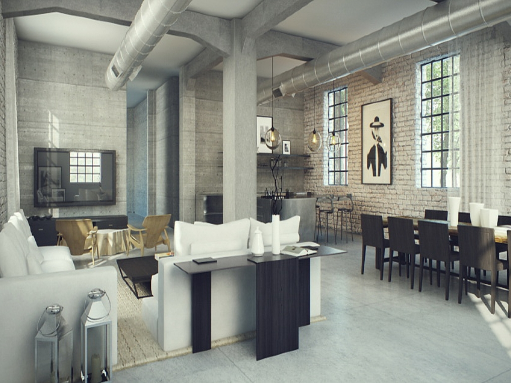 Industrial style interior design industrial interior for Industrial interior design