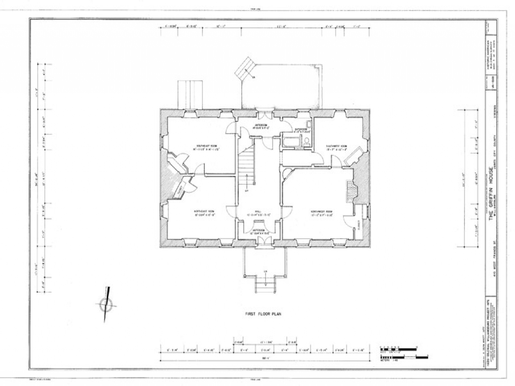 Small house plans colonial williamsburg small spanish for Colonial house blueprints