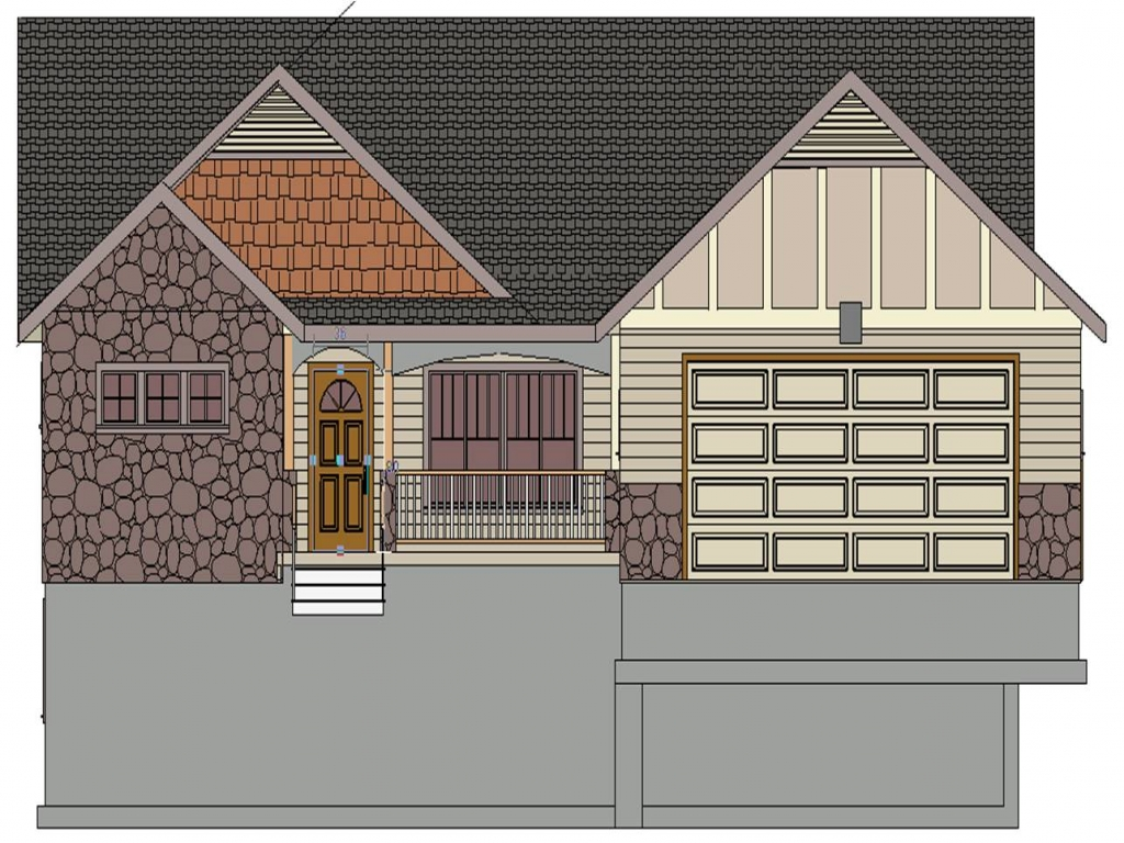 Front Elevation Pdf : House plans front view plan elevation drawings