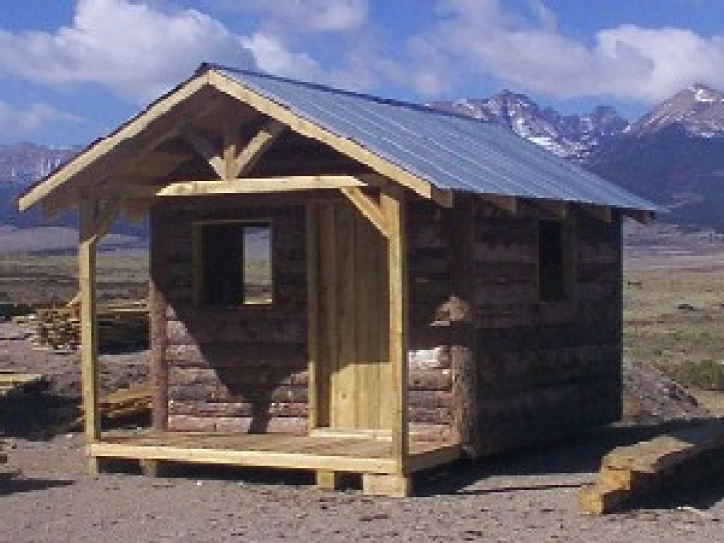 Post and beam cottage plans post and beam cabin plans with for Simple cabin designs with loft