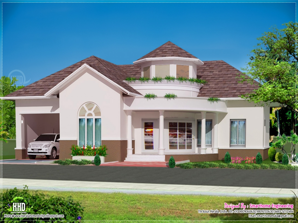 Single story house floor plans kerala single floor home for Single floor house