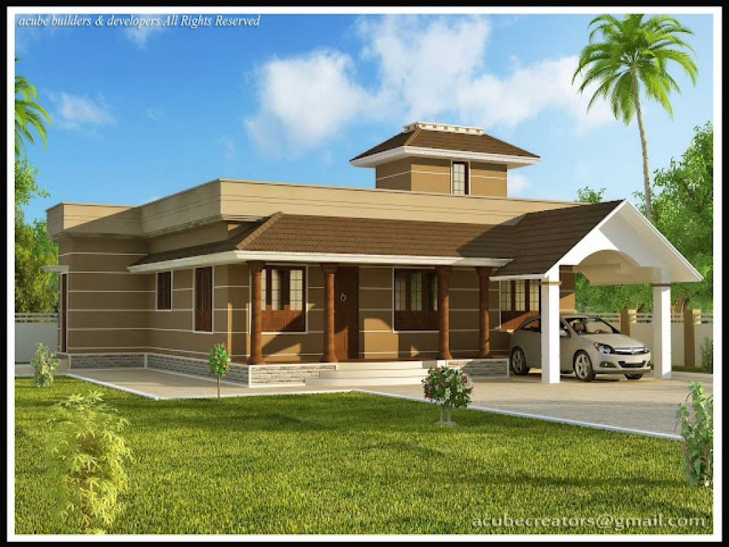 Single Story Modern House Designs in Kerala Modern House ...