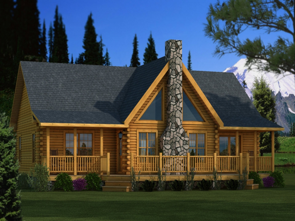 Log Home Plan 26x36 Adair Log Home Plan Log Home
