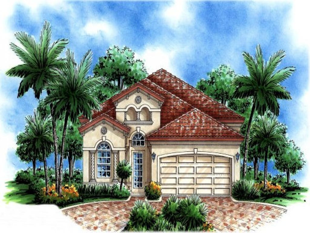 Small mediterranean style house plans spanish for Spanish mediterranean house plans