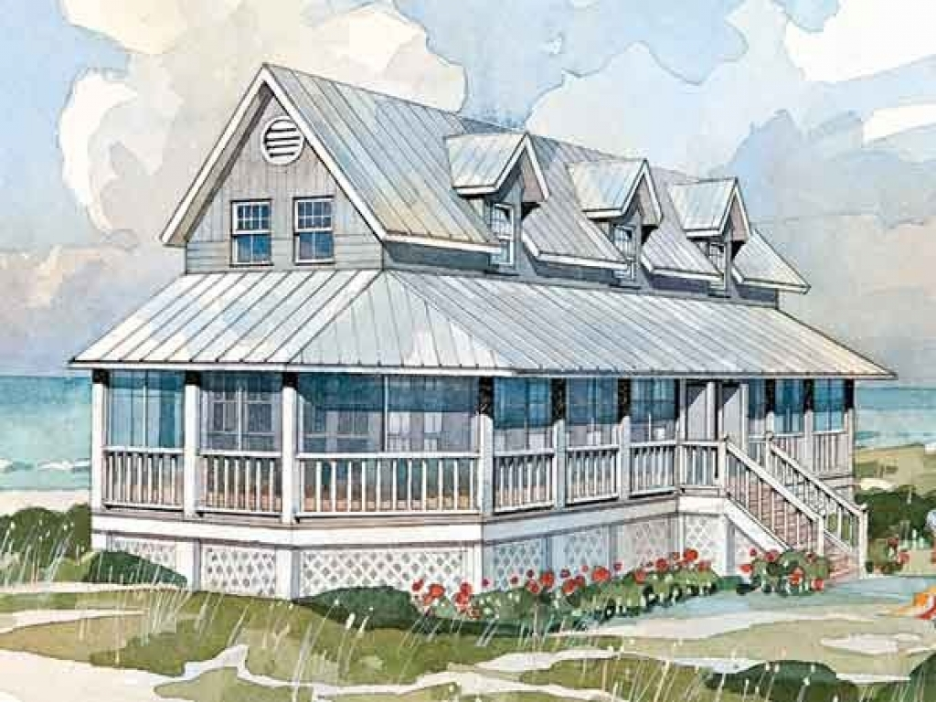 Southern living coastal cottage house plan low country for Coastal cottage house plans