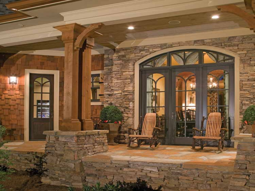Country home exterior color schemes country craftsman - Rustic home exterior color schemes ...