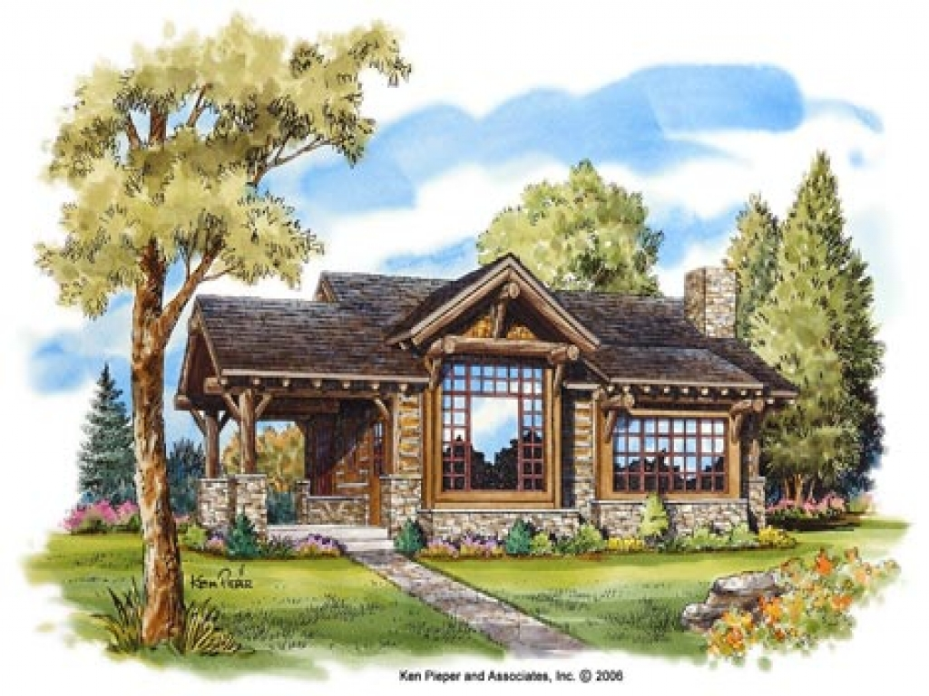 Small mountain cabin house plans mountain small cabin for Mountain cottage house plans