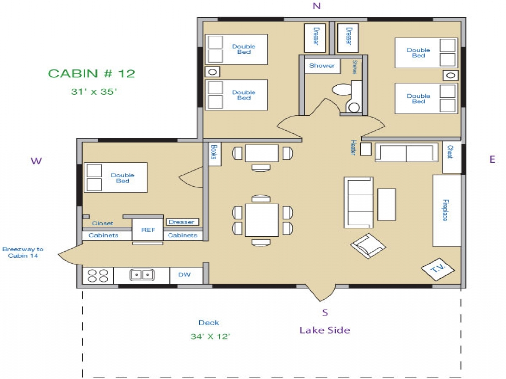 3 Bedroom Cabin Floor Plans 1 Bedroom Log Cabins, lake ...