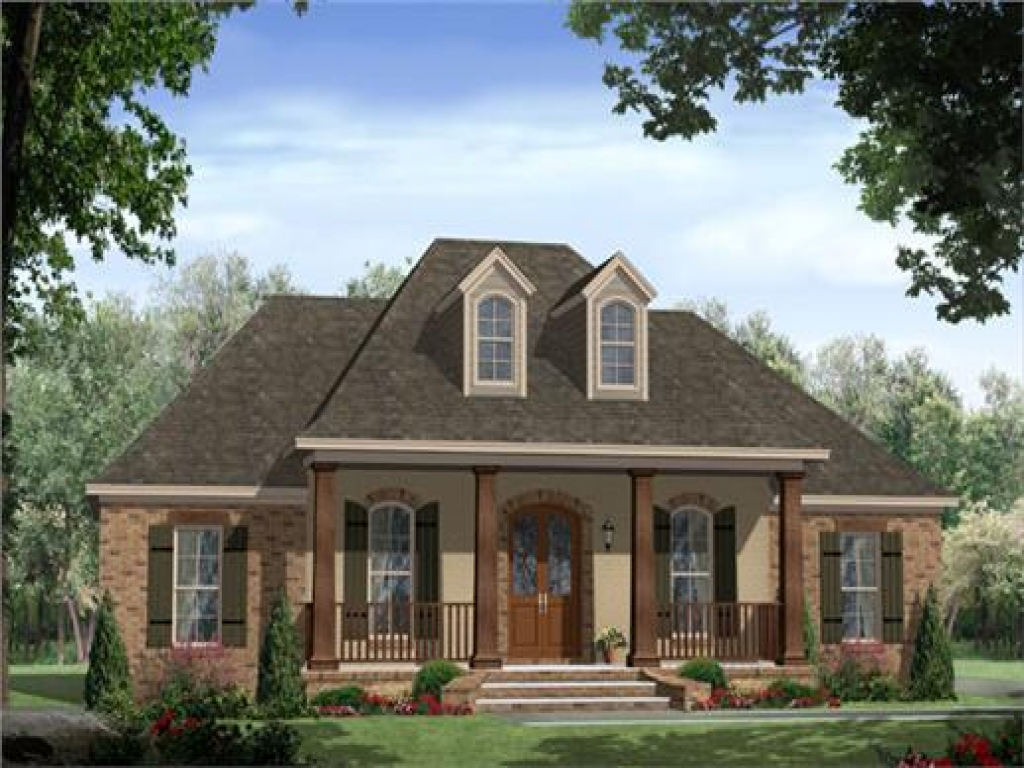 Country house plans with porches french country house for Country house plans one story