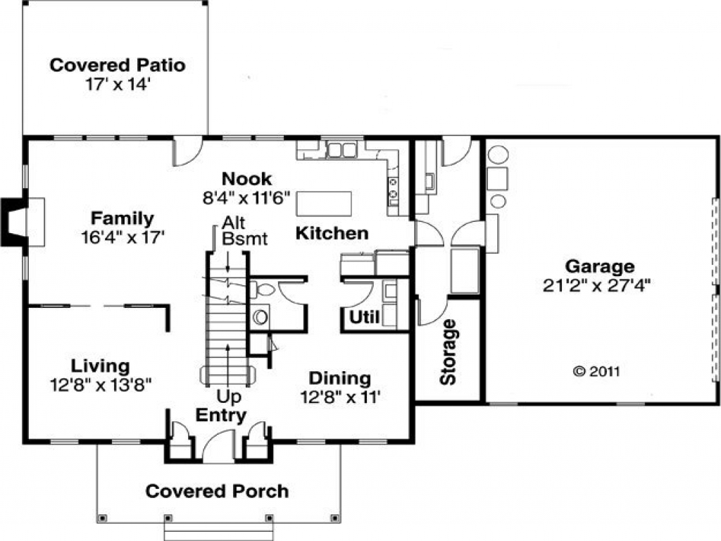 Simple house floor plan simple rectangle house floor plans for Rectangular house plans wrap around porch