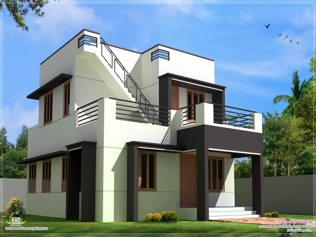 modern house home in design 140 sq yards design home modern house plans lrg 7b6e68f00cf31c27 - View Two Storey Small Duplex Modern House Design PNG
