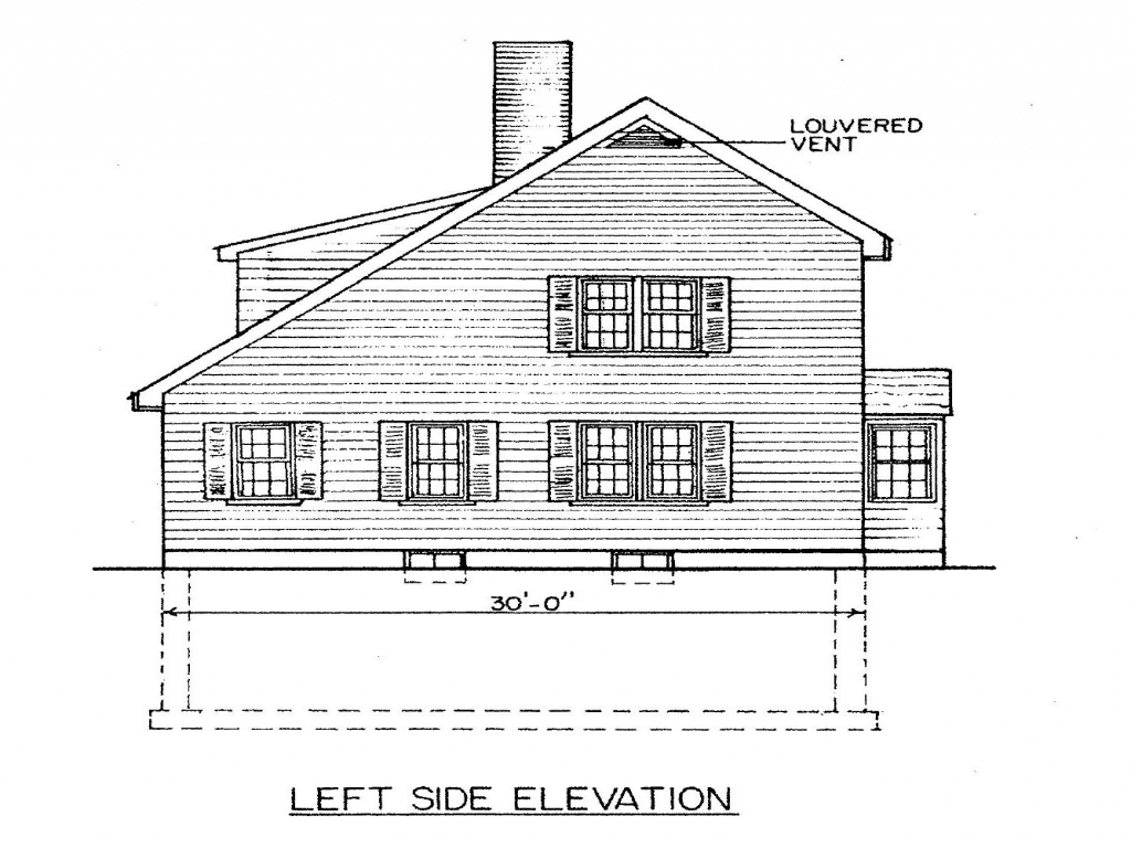 New England Saltbox House Plans Saltbox House Plans