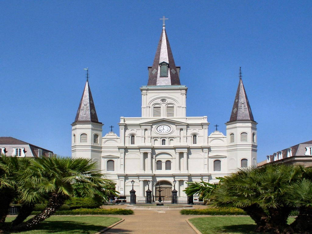 St Louis Cathedral New Orleans New Cathedral St Louis Missouri Colonial Style Architecture