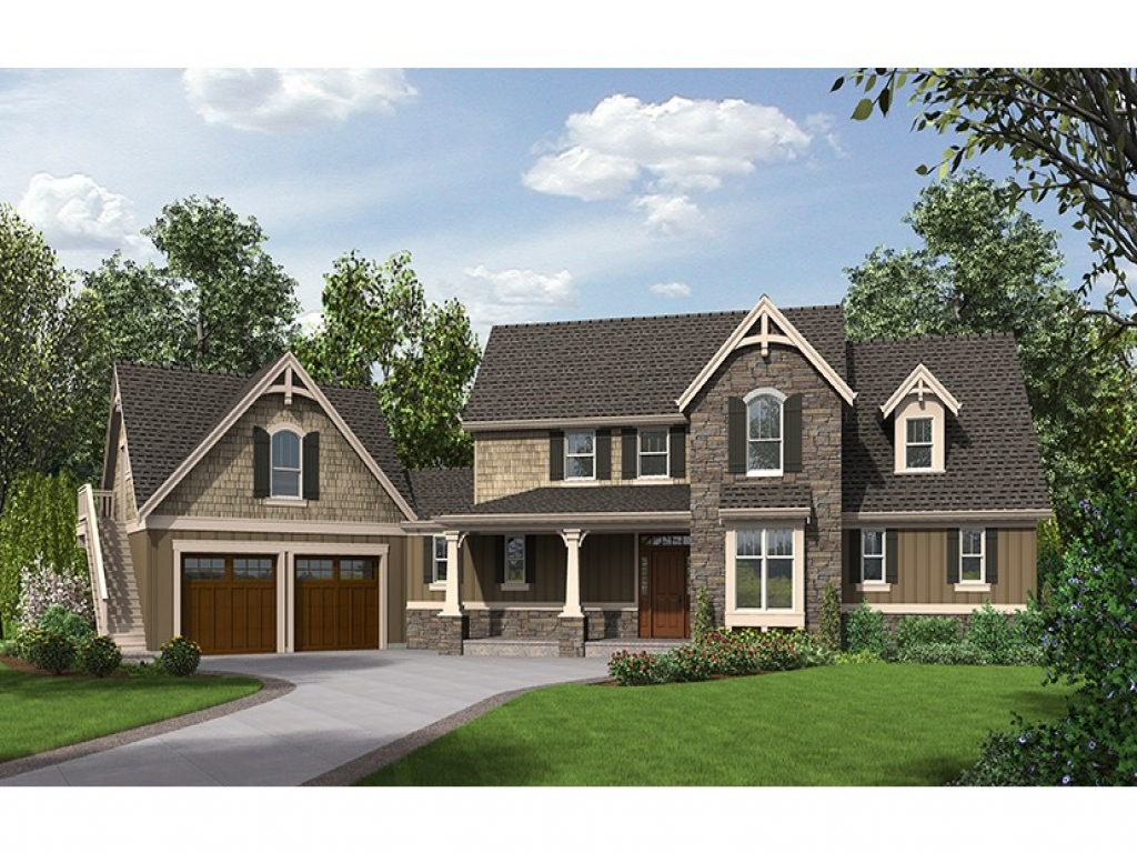Craftsman luxury hwbdo77246 craftsman from for Builder house plans com