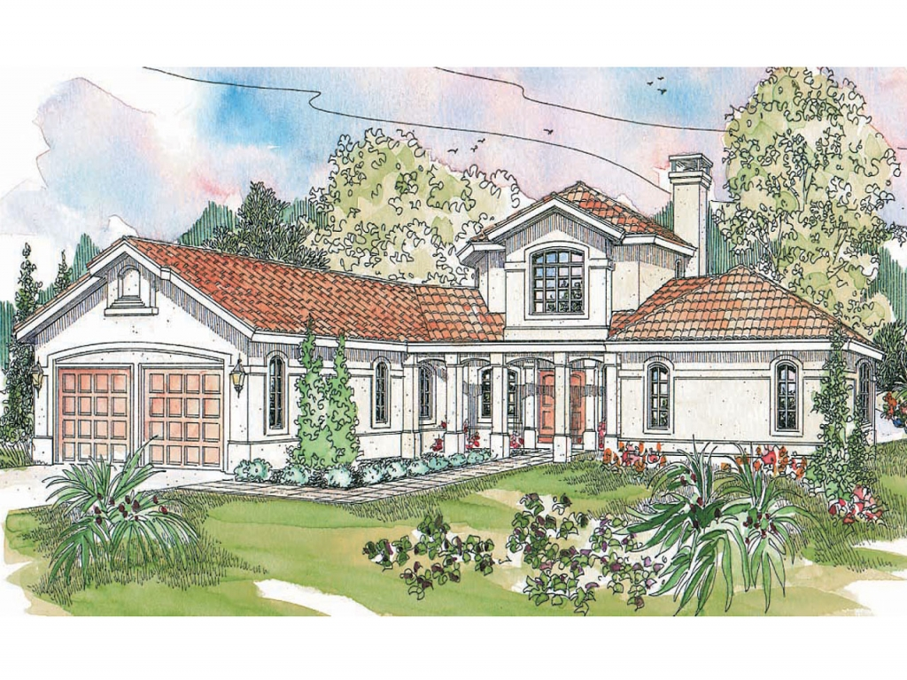 Tuscan style homes spanish style homes house plans for Spanish style ranch house plans