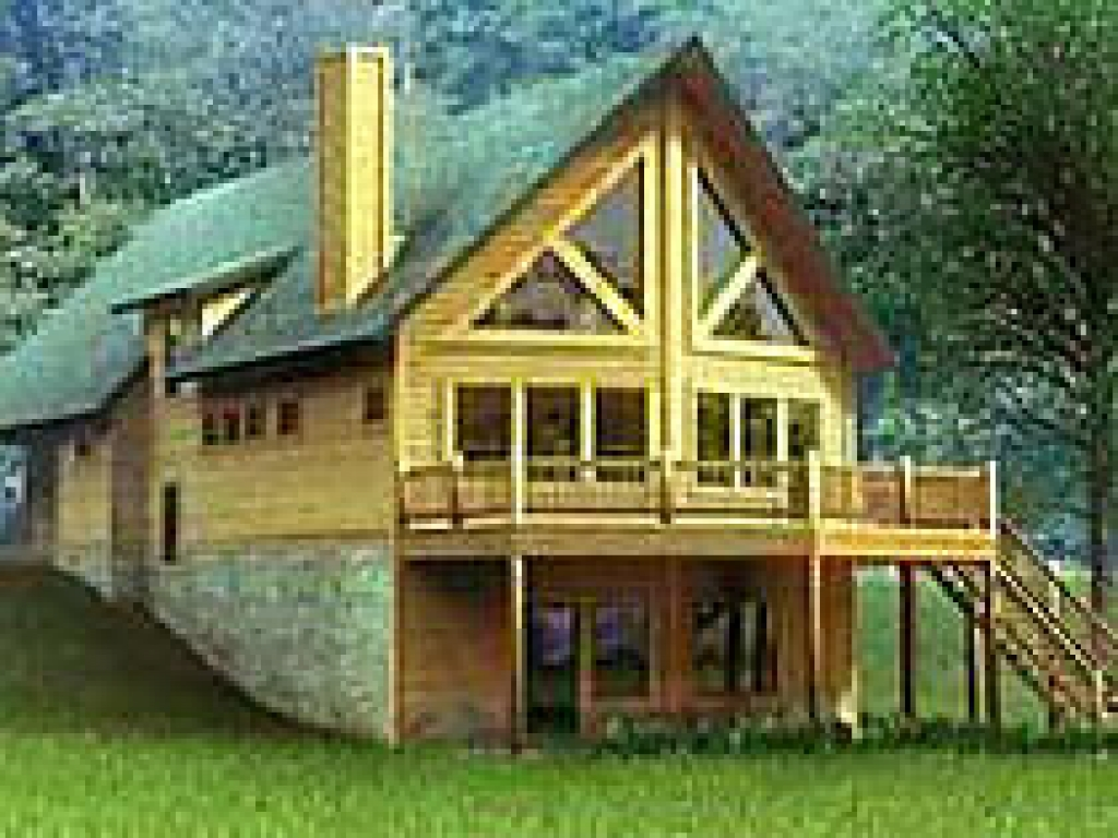 Chalet style log home plans chalet style house kits for Cabin plans 123