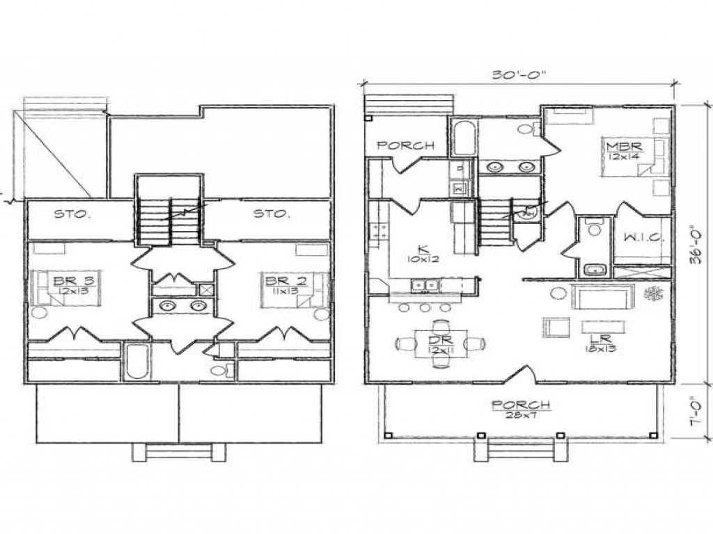 3 bedroom two story house plans loft bedrooms two bedroom for 2 bedroom house plans with loft