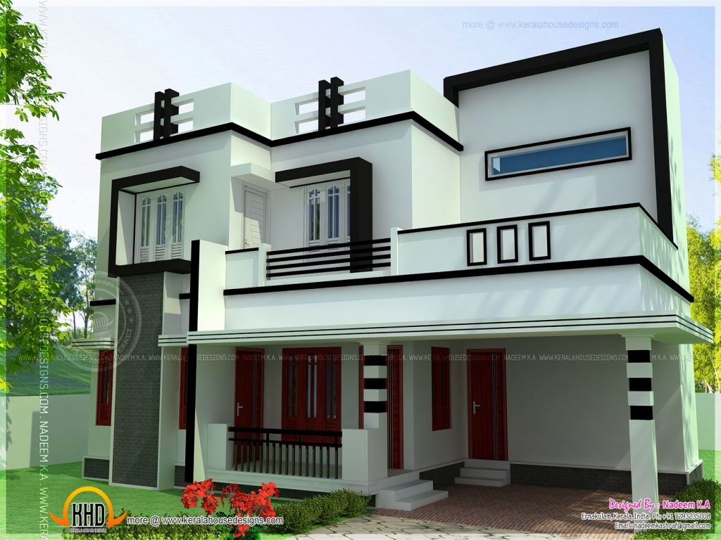 Flat Roof Design Ideas: 4 Bedroom House Plans Flat Roofs Residential House Plans 4