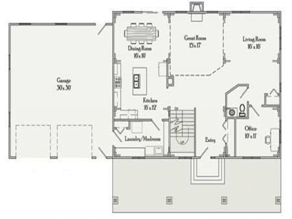Rectangular house plans 3 bedroom 2 bath simple for 2 bedroom 2 bath ranch floor plans