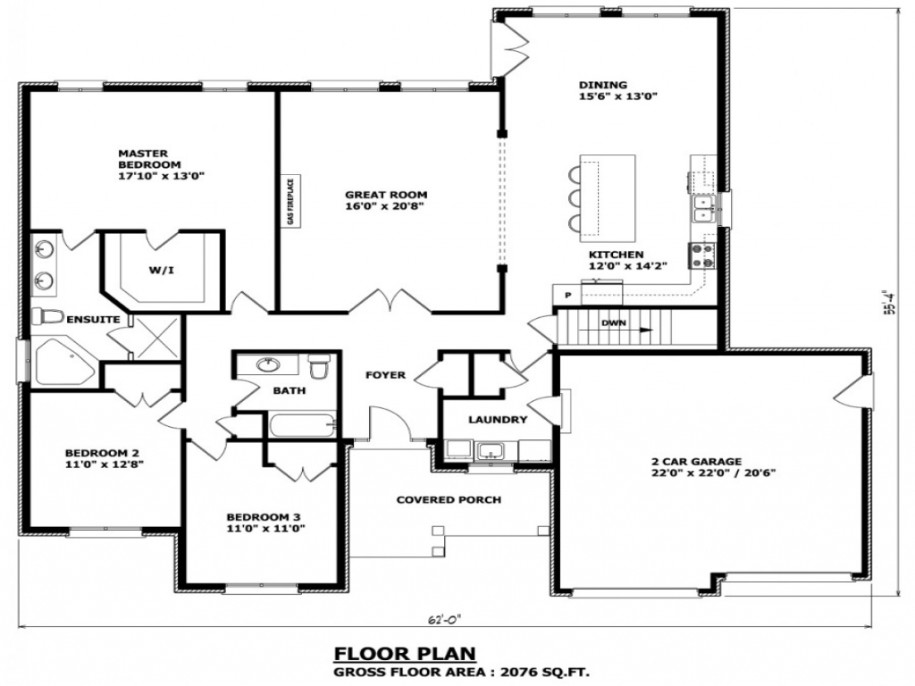 Bungalow floor plans canada craftsman bungalow house plans for Canadian cabin plans