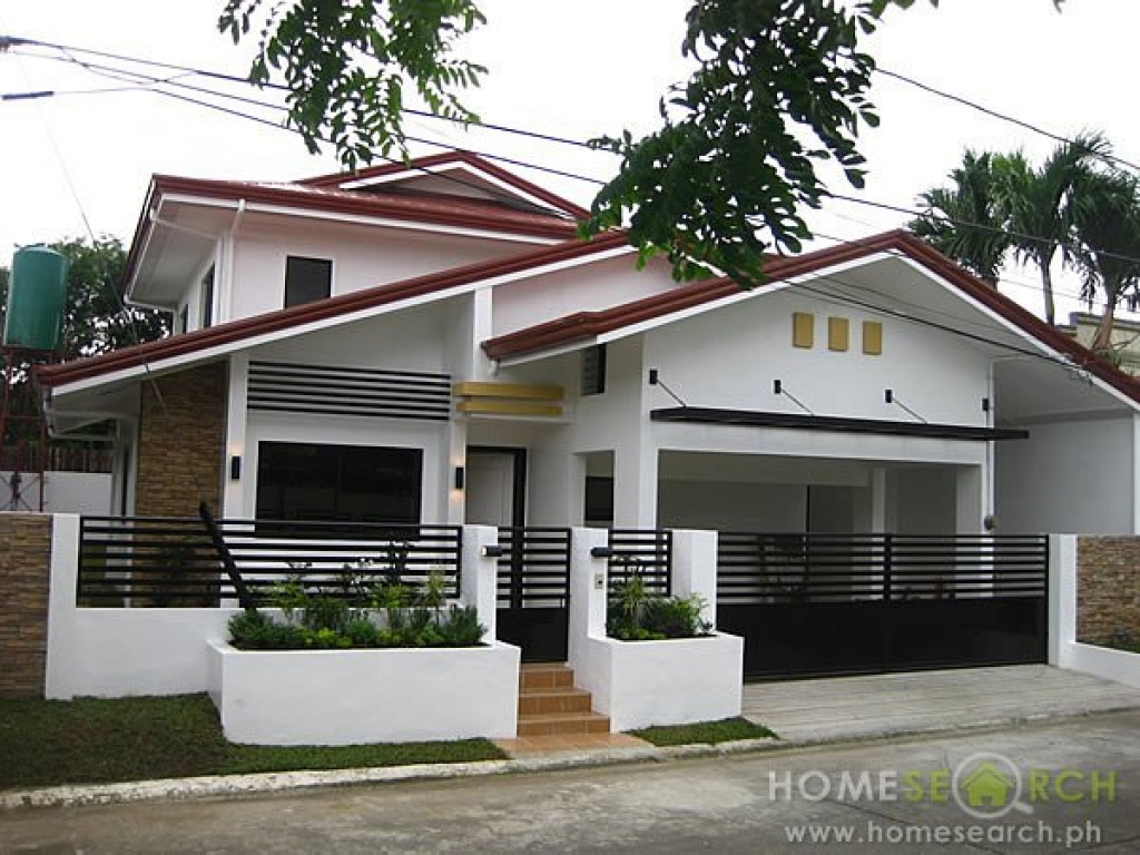 Modern 2 storey house philippines simple modern house for Simple two storey house design