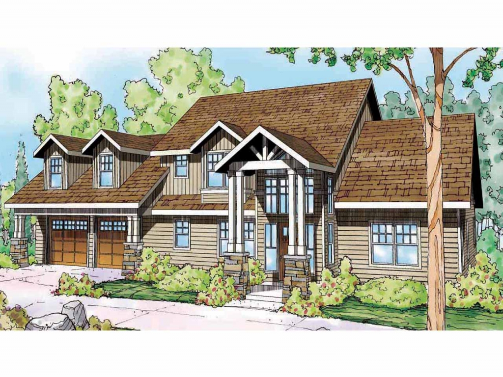 Rustic lodge style house plans lodge style house plans for Lodge style home plans