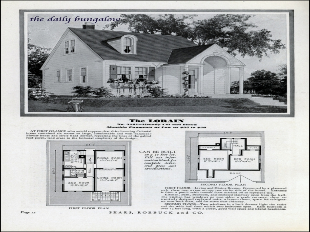Showing The 6 Photos Of 1930s House Plans 1930s House
