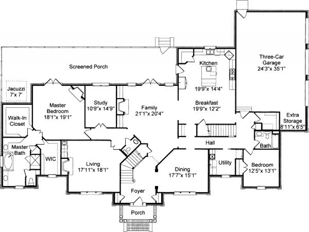 Colonial house floor plans traditional colonial house for Southern colonial floor plans