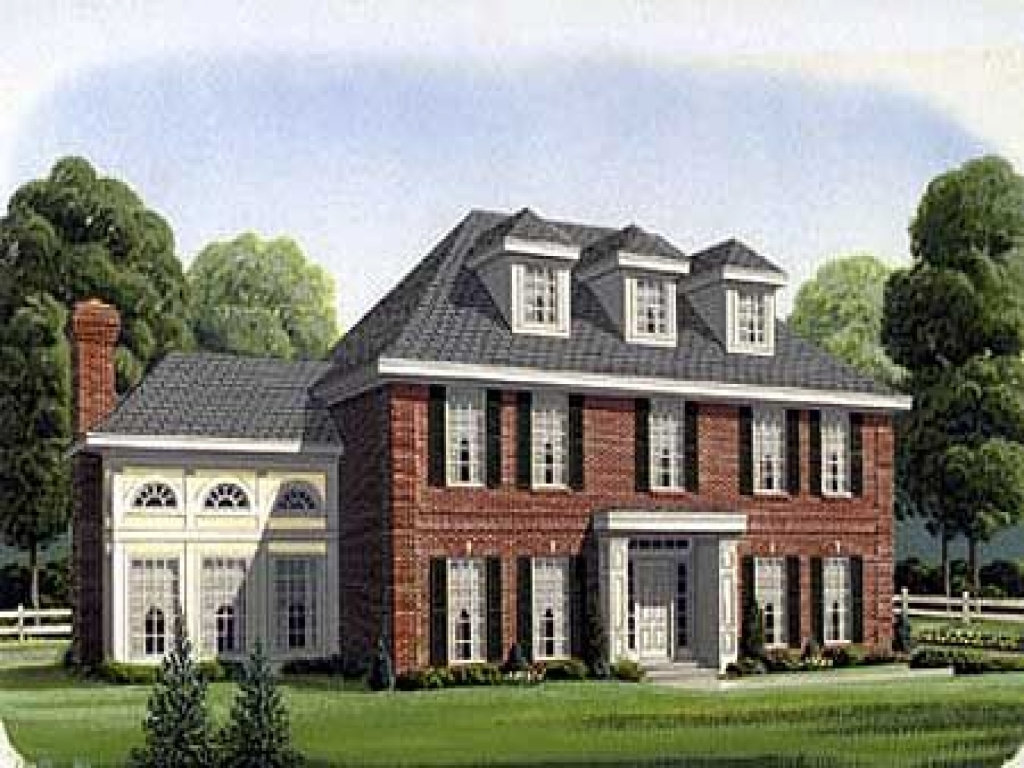 Southern colonial style house plans georgian style house for Colonial ranch house plans