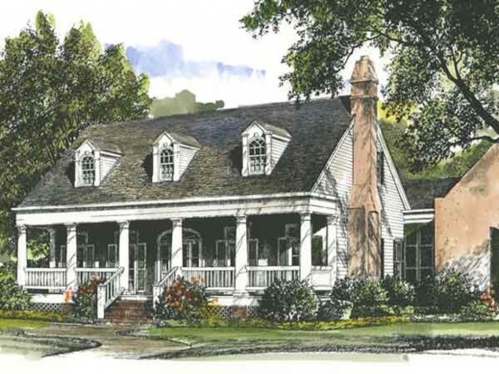 Southern living house plans southern cottage style house for Southern home and ranch