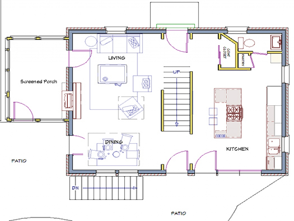 Center Hall Colonial Floor Plans Hall Center Colonial