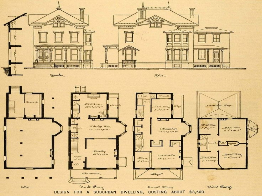 Vintage victorian house plans authentic vintage house for Old victorian house plans