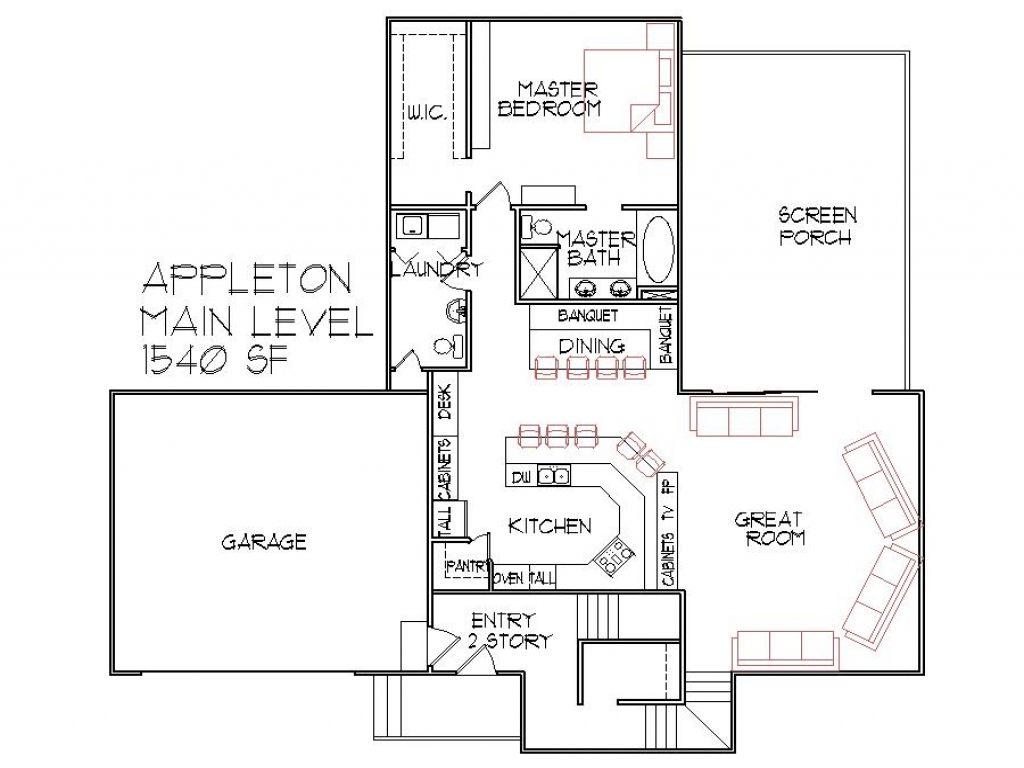 1500 sq ft one story house plans 1500 sq ft house floor for Floor plans 1500 sq ft ranch