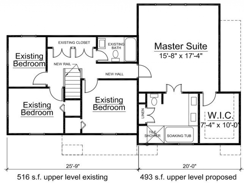 Home addition floor plans home addition drawings 2nd for Ranch home addition floor plans