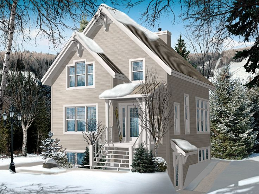 Chalet home floor plans chalet house plans narrow lot Ski chalet plans