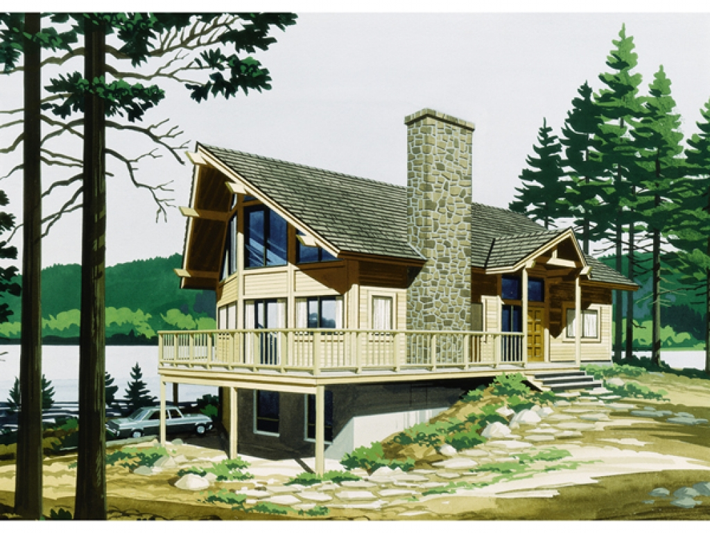 Narrow lot lake house plans lake house curb appeal ideas for Lake house floor plans narrow lot