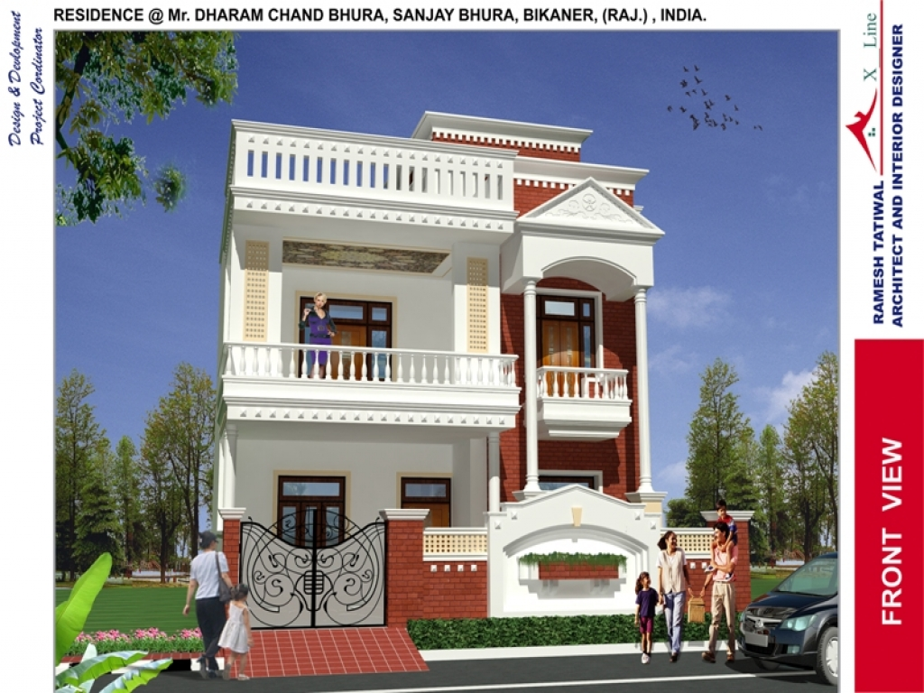 Rustic Home Designs Indian Home Design Front View, front ...