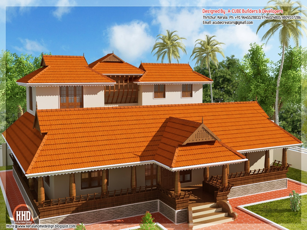 Small kerala house models traditional kerala house designs for Small traditional home plans