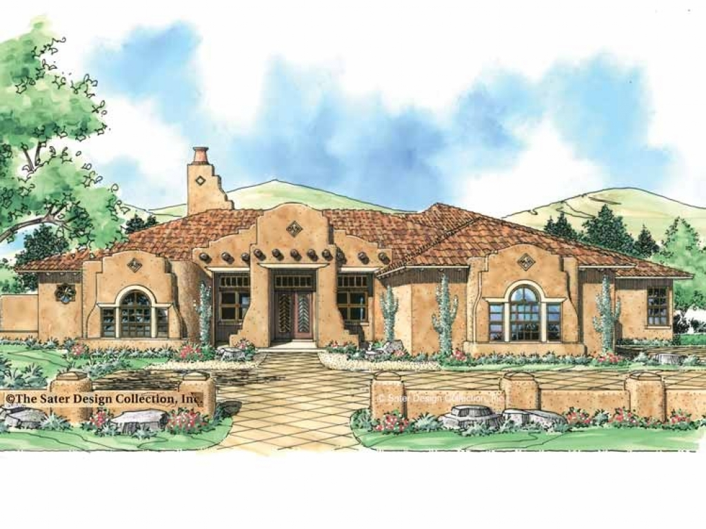 Spanish mission house plans spanish mission style house for Mission home plans