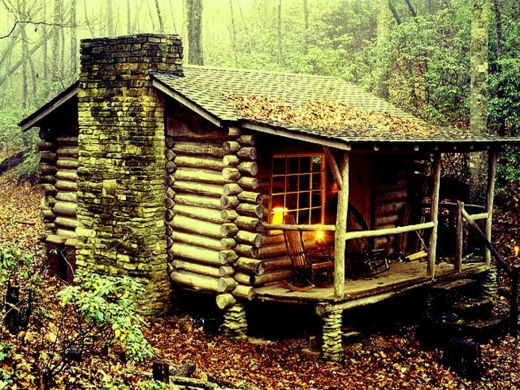 Antique log cabins small rustic log cabin in the woods for Building a rustic cabin