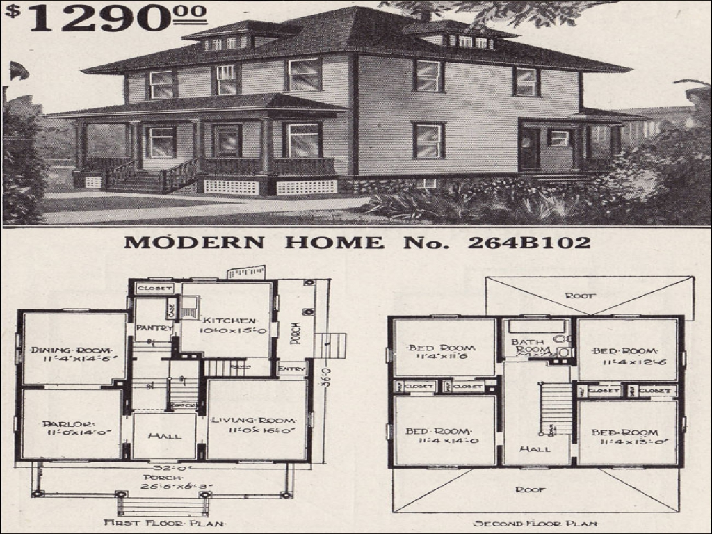 Sears Foursquare House Plans 1900 1910 Foursquare House