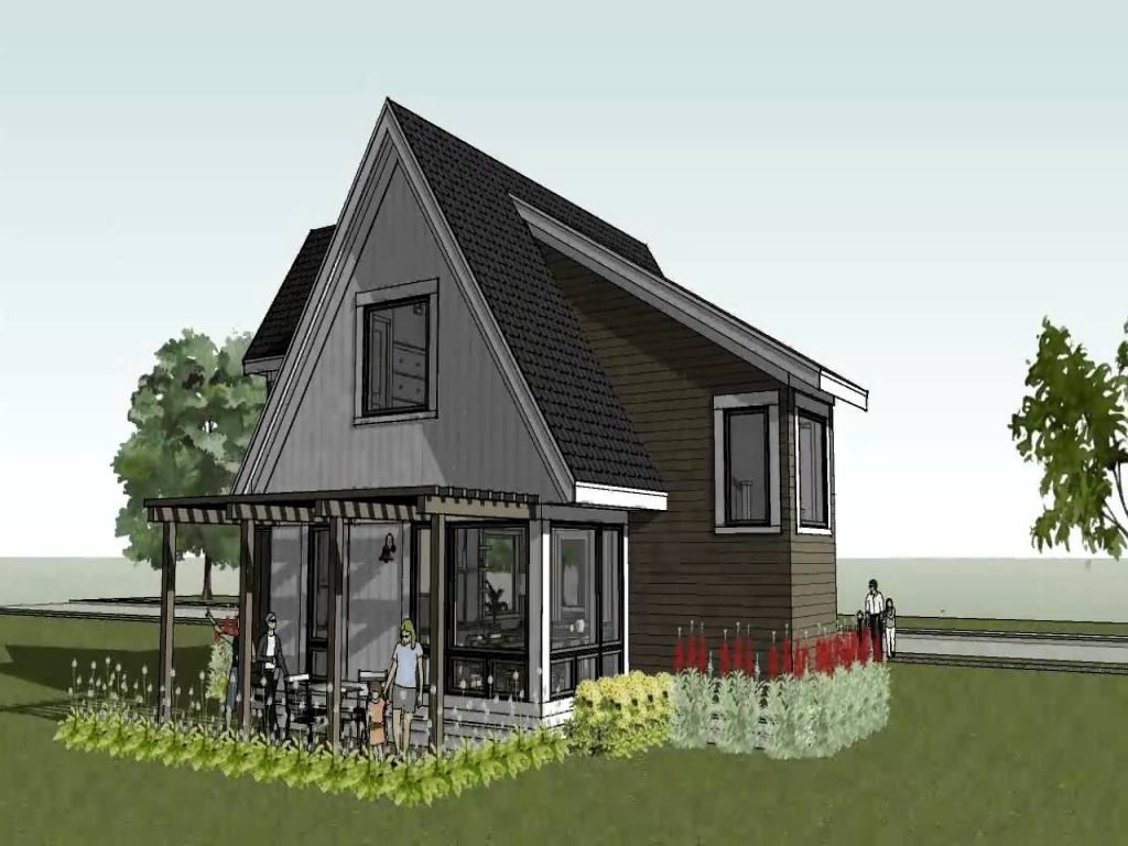 Small modern house small modern cottage house plans small for Small modern farmhouse plans