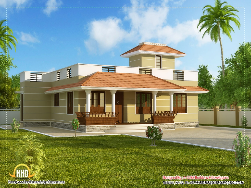 Beautiful house plans single story homes small two bedroom for Small 1 1 2 story house plans